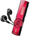 Sony NWZ-B173F 4 GB MP3 Player - Red, 3 Line Display