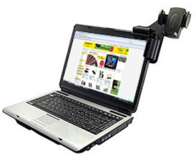 Buy Amzer 83577 Laptop Mobile Connect with Universal Cell Phone Holder: Car Cradle