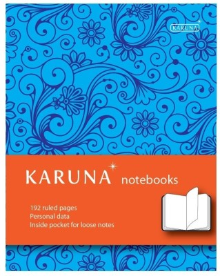 Buy Karunavan Paisley Series Blue and Orange Band Journal Non Spiral Hard Bound: Diary Notebook