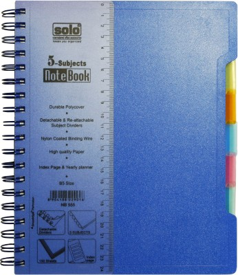 Buy Solo Management 5 Subjects B5 Notebook Spiral Binding: Diary Notebook