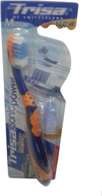 Buy Trisa Sonicpower Battery Adult Electric Toothbrush: Electric Toothbrush