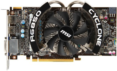 Buy MSI AMD/ATI R6850 Cyclone 1GD5 Power Edition/OC 1 GB GDDR5 Graphics Card: Graphics Card