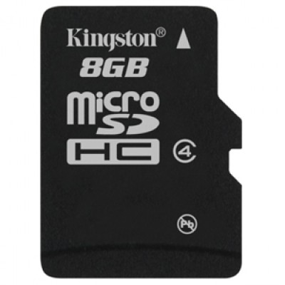 Buy Kingston Memory Card MicroSDHC 8 GB Class 4: Memory Card