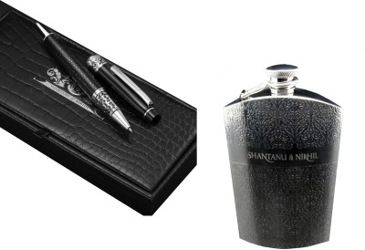 Buy Shantanu & Nikhil (Roller Ball Pen Hip Flask) Combo Roller Ball Pen: Pen
