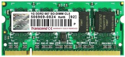 Buy Transcend DDR2-667/PC2-5300 DDR2 1 GB Laptop RAM (JM667QSU-1G): RAM