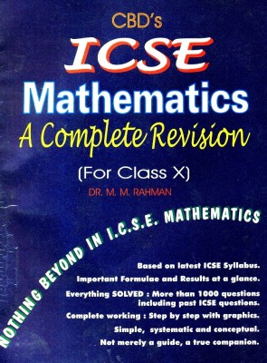 Buy ICSE Mathematics A Complete Revision (For Class X): Regionalbooks