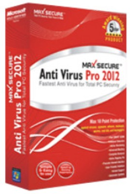 Buy Max Secure Antivirus Pro 2012: Security Software