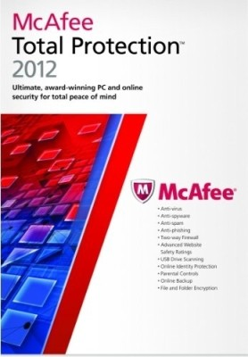 Buy McAfee Total Protection 2012 1 PC 1 Year: Security Software