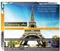 Sunny Engraving Art - Eiffel Tower