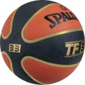 Spalding TF - 33 Basketball - 7 - Orange, Gold, Black