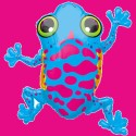 Anagram Large Shape - Leaping Frog Printed Balloon - Multicolor, Pack of 1