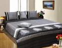 Dekor World Pearl Design Quilt Set Bedding Set - Black, Grey