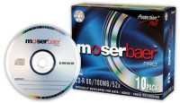 Moser Baer Pro CD-R 10 Pack Slim Jewel Case: Blank Media