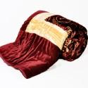 Little India Golden Crush Border Single Bed Velvet Quilt 506 Modern Ethnic Quilt - Single