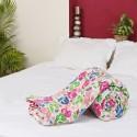 Aapno Rajasthan Garden Oasis Floral Design Jaipuri Cotton Double Flora Quilt - Double