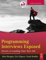 Programming Interviews Exposed: Secrets to Landing Your Next Job 3rd Edition: Book