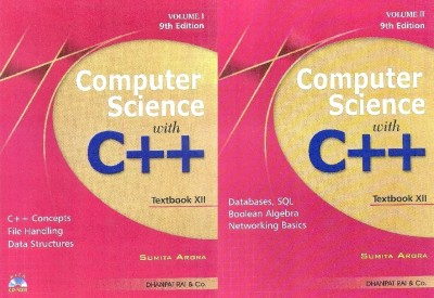 Buy Computer Science with C++ for Class - 12 (Set of 2 Volumes) (With CD) 9th  Edition: Book