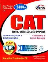CAT Topic-Wise Solved Papers (With CD): Book