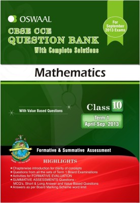 Buy CBSE CCE Question Bank with Complete Solutions - Mathematics : Class 10 Term 1: Book