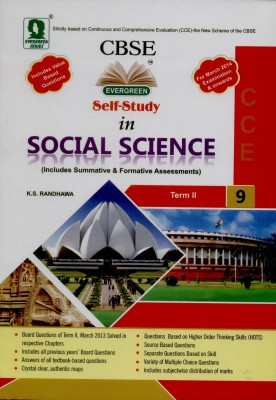 Buy Evergreen CBSE Self-Study in Social Science: Includes Summative and Formative Assessments with Class - 9 (Term - II) 01 Edition: Book
