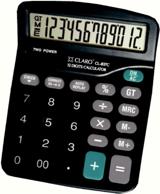 Buy Claro CL - 837C Black Basic: Calculator