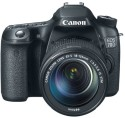 Canon EOS 70D SLR - Black, With Kit II EF-S 18 - 135 IS STM