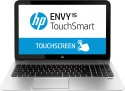 HP Envy Touchsmart 15-j109TX Laptop (4th Gen Ci7/ 8GB/ 1TB 8GB NAND/ Win8.1/ 2GB Graph/ Touch) - Glass Fiber With Silky Soft Touch Aluminium Finish Natural Silver