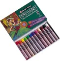 Sakura Expressionist Oil Pastel - Set Of 12, Assorted
