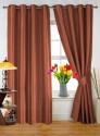 Dekor World Plain Brown Door Curtain