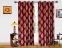 Dekor World Intricate Damask Door Curtain