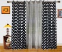 Dekor World Polka Dots And Sheer Combo Door Curtain - CRNDQAY6VPY87ZF6