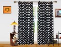 Dekor World Polka Dots Pattern Window Curtain - CRNDQAY66W4GMANS