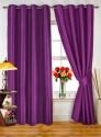 Dekor World Plain Purple Door Curtain