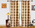 Dekor World Light And Drak Brocade Door Curtain