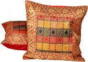 Jaipur Raga Rajasthani Traditional Design Cushions Cover - Pack Of 2 - CPCDPH3GCDY7Y9HK