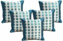 Dekor World Sober Circle And Border Cushions Cover - Pack Of 5