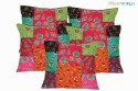 Dekor World Printed Patch Design Cushions Cover - Pack Of 5