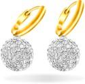 Mahi Sterling Balls Gold Bali Alloy Drop Earring