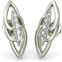 BlueStone The Vokante Earrings White Gold Stud Earring