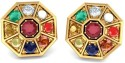 BlueStone The Nav Kavach Yellow Gold Stud Earring - ERGDR6FXVT6GGCSS