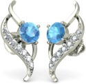 BlueStone The Azyr Earrings White Gold Stud Earring
