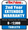 Etechies Tablets 1 Year Extended Basic Protection - For Device Worth Rs 0 - 2000