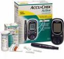 Accu-Chek Active Glucose Monitor With 50 Strips Glucometer - Black