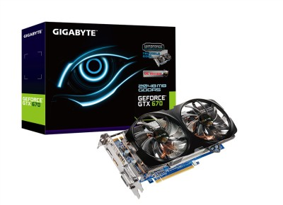 Buy Gigabyte NVIDIA GeForce GTX 670 2 GB GDDR5 GV-N670WF2-2GD Graphics Card: Graphics Card