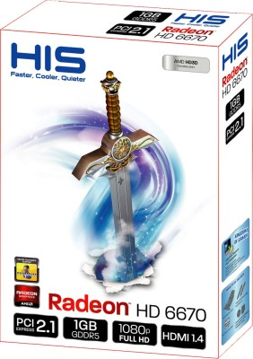 Buy HIS AMD/ATI Radeon HD 6670 1 GB GDDR5 Graphics Card: Graphics Card