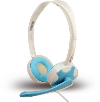 Amkette Truchat Technic Wired Headset Headset - Blue