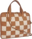 Toteteca Bag Works Weaved Laptop Bag TT2027 15 Inch Laptop Bag - Tan And Offwhite
