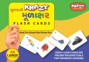 Mind Wealth Krazy Gujarati Murakshar Flash Cards - Purple, Green, Yellow