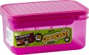 Decor Pumped Plastic Lunch Boxes - Set Of 2, Pink
