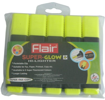 Buy Combo of 2 Flair Chisel Tip Highlighter Pens: Bundle